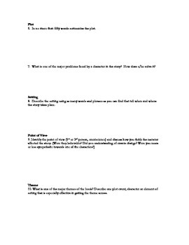 The Book Report: Printable Projects and Questions