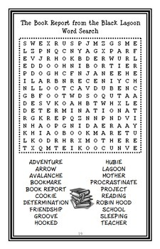 The Book Report from the Black Lagoon (Mike Thaler) Novel Study / Comprehension