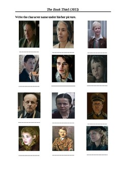 the book thief movie characters