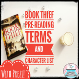 The Book Thief Character List and Terms with Prezi