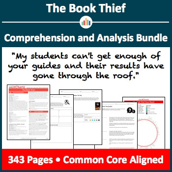 the book thief teaching resources teachers pay teachers  the book thief comprehension and analysis bundle