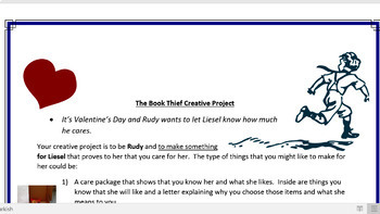 The Book Thief Creative Project with Rubric