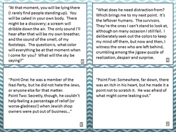 The Book Thief- Discussion Question Task Cards