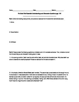 The Book Thief Discussion Q... by The Burks Bazaar | Teachers Pay ...