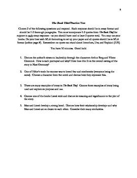 The Book Thief Test