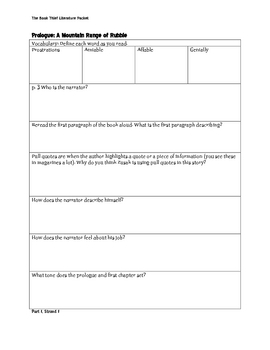 The Book Thief Literature Packet