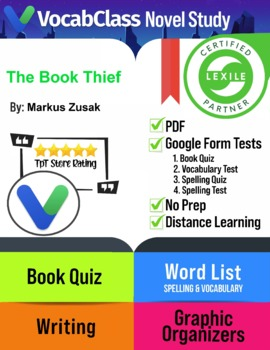 The Book Thief Novel Study Guide PDF | READING QUIZ | VOCABULARY | GAMES +