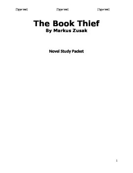 The Book Thief Novel Study Packet