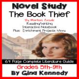 The Book Thief Novel Study and Project Menu; Plus Digital Option
