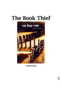 The Book Thief Novel Unit