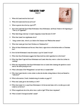 Bennet study guide array the book thief part 2 study guide by holly bennett tpt rh teacherspayteachers com fandeluxe Image collections