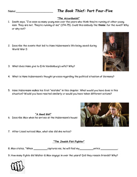 The Book Thief Part 4-5 Comprehension Questions