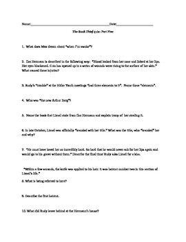 The Book Thief Part 5 short answer quiz