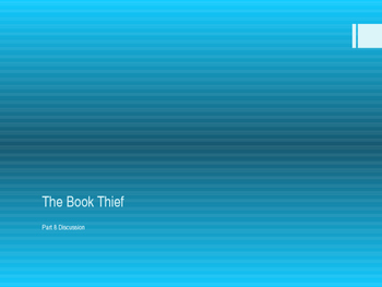 The Book Thief Part 8 Discussion Power Point