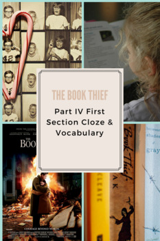 The Book Thief Part IV First Section Cloze & Vocabulary
