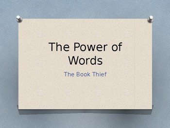 the power of words in the book thief