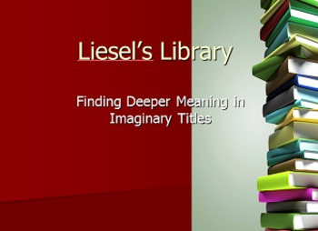 The Book Thief: Summary Activity (Liesel's Library)