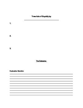 The Book Thief: Three Acts of Stupidity Creative Write