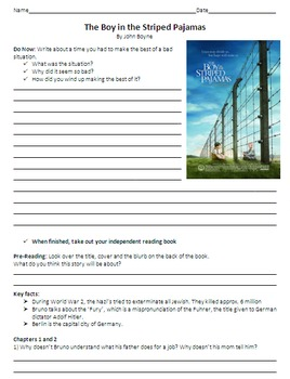The Book Thief and The Boy in Striped Pajamas Reading Guide - Bundle