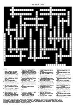 The Book Thief by Markus Zusak - Crossword Puzzle