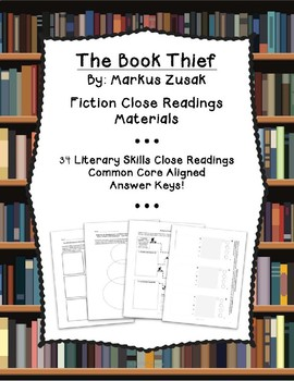 The Book Thief by Markus Zusak: Literature Guide, 34 Close Reading Activities