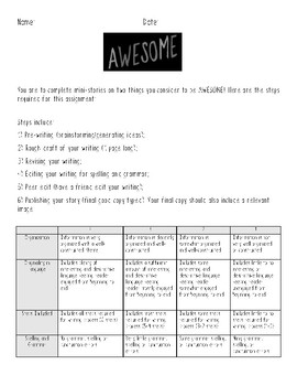 The Book of Awesome Assignment and Rubric