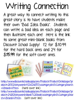 """""""The Book of Bad Ideas"""", Picture Book and Writing Connection"""