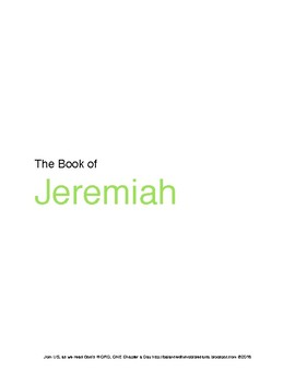 The Book of Jeremiah WORD Guide