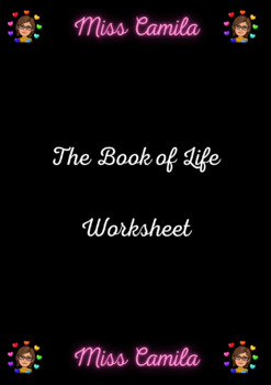 The Book of Life Worksheet