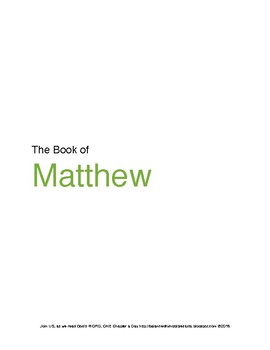 The Book of Matthew WORD Guide