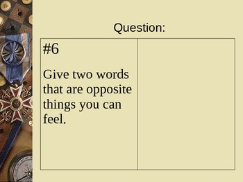 The Book of Questions...With Answers on the Tip of Your Tongue PowerPoint Vol. 4