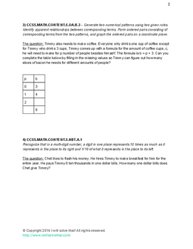 The Book of Timmy - 5th Grade Math Problems