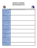 The Book vs. The Movie Analysis Sheet