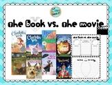 The Book vs The Movie Graphic Organizers