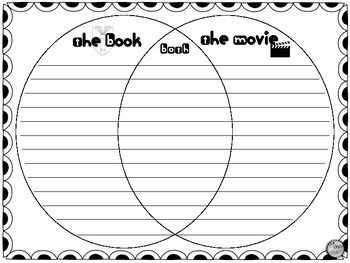 The Book vs The Movie Graphic Organizers