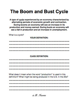 The Boom and Bust Cycle Packet