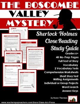 Sherlock Holmes Study Guide: The Boscombe Valley Mystery (32 P., Ans. Keys, $8)