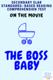 The Boss Baby Movie Guide/Analysis Multiple-Choice Test