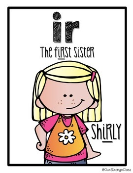 the bossy r sisters r controlled vowels by our strange class rh teacherspayteachers com Friendly Clip Art Supervisor Clip Art