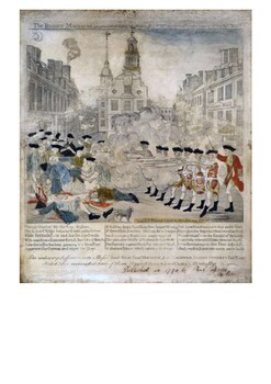 The Boston Massacre 1770 Handout