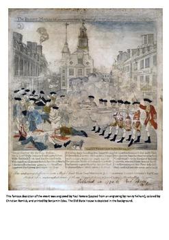 The Boston Massacre 1770 Word Search