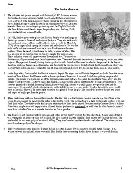 The Boston Massacre - Grade 5