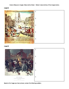 The Boston Massacre Image Analysis Activity