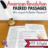The Boston Massacre: Paired Reading Passages & Opinion Writing Distance Learning