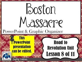 Boston Massacre PowerPoint and Graphic Organizer