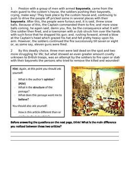 The Boston Massacre - Teaching Point of View