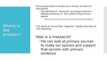 The Boston Massacre, Was Is a Massacre?