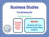 The Boston Matrix - Product Portfolio - Marketing Mix - 4 P's - Business Studies