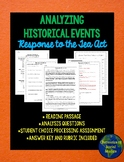 Response to the Tea Act: Analyzing a Historical Event