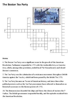 The Boston Tea Party Crossword